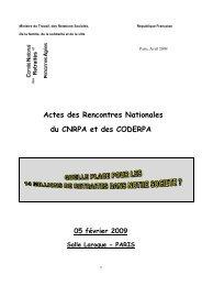 Actes des Rencontres Nationales du CNRPA et des CODERPA 05 ...