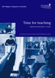 Improving administration in schools - Audit Scotland