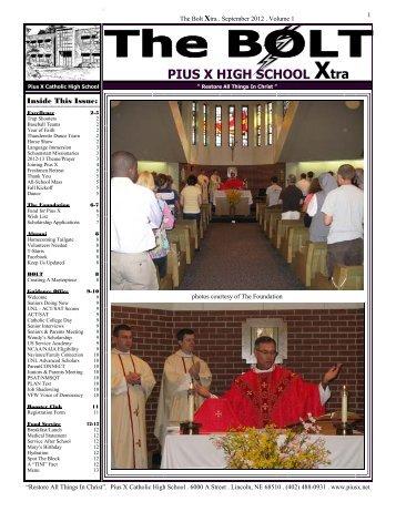 September 2012 - Pius X High School