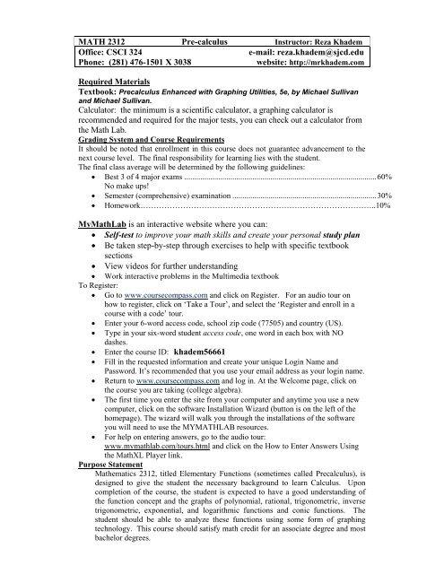 College Algebra - 13026 - MATH 1314 - 103