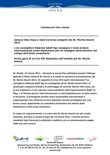 PRESS RELEASE - Stmoritz-award.com