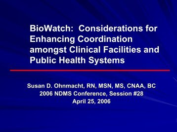 BioWatch - The 2012 Integrated Medical, Public Health ...