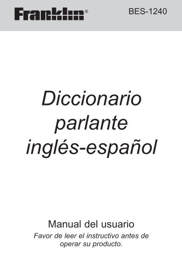 Diccionario parlante inglés-español - Franklin Electronic Publishers