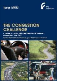 The congestion challenge IPSOS Mori - report - RAC Foundation