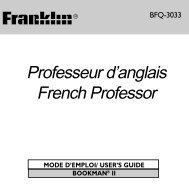 Professeur d'anglais French Professor - Franklin Electronic Publishers