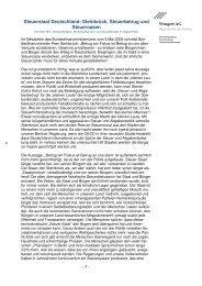 Steuerstaat Deutschland 22.5.2009 - Wengert Gruppe