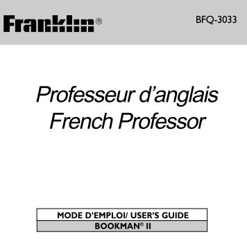 franklin french english electronic dictionary