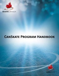 CanSkate Program Handbook - Peterborough Figure Skating Club