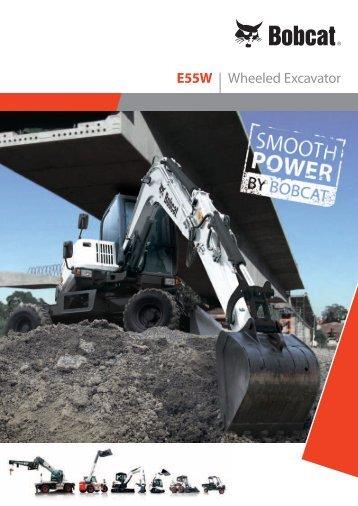 E55W | Wheeled Excavator - Bobcat.eu