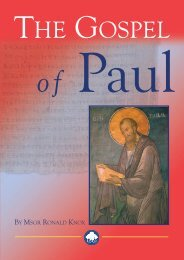 The Gospel of Paul - Ignatius Press