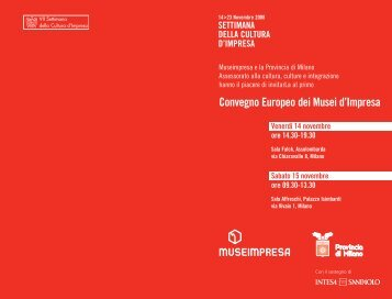 European Meeting of Company Museums 2008.pdf - Centro Risorse ...