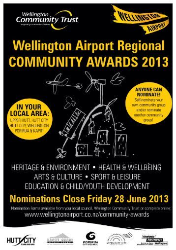Wellington Airport Regional Community Awards 2013