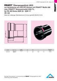 Übergangsstück PE - PVC/PP (UKG)