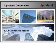 Projects - Alphaland Corporate