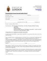 Parent/Guardian Consent Form and Liability Waiver - Diocese of ...