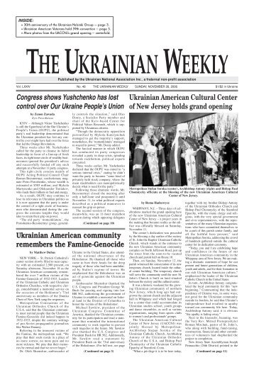 The Weekly Template - The Ukrainian Weekly