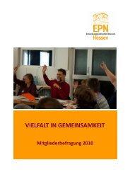 Mitgliederbefragung 2010 Bericht - EPN Hessen eV