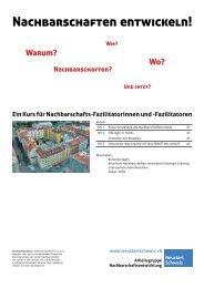 Workshop «Nachbarschaften entwickeln - Neustart Schweiz