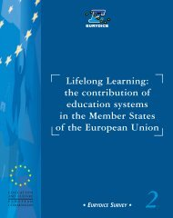 Lifelong Learning: the contribution of education ... - EU Bookshop