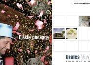 Fiesta Package - (PDF download) - Beales Hotels