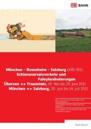 München – Rosenheim – Salzburg (KBS 951 ... - ÖBB