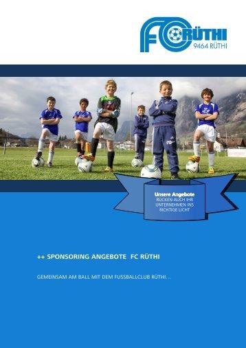 Sponsoringangebote FC Rüthi - Fussballclub Rüthi