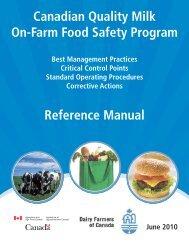 Canadian Quality Milk On-Farm Food Safety Program - Centre ...