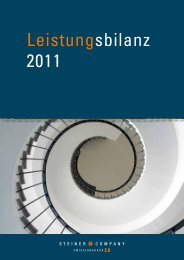 Leistungsbilanz 2011 - Steiner Company