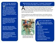 what is an aquatic therapy program? - Alice Hyde Medical Center