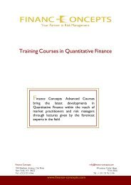 Training Courses in Quantitative Finance - Finance Concepts