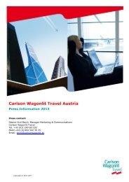 Download Electronic Press Kit - Carlson Wagonlit Travel