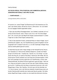 Herfried Münkler DIE NEUEN KRIEGE. PRIVATISIERUNG UND ...