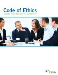 Code of Ethics - Citizens Property Insurance