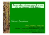 Conservation oriented research of rare wild plant species in N.E. ...