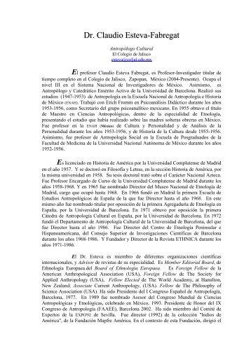 Dr. Claudio Esteva-Fabregat - Ciesas