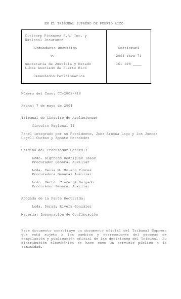 2004 TSPR 71 - Rama Judicial de Puerto Rico