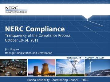 FRCC Fall Workshop 2011 - NERC Presentation