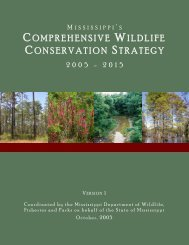MS Comprehensive Wildlife Conservation Strategy