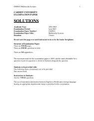 Exam Solutions 2003 - Cardiff University