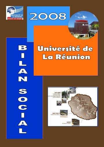 Bilan social 2008 - Université de la Réunion