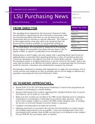 April 2010 - Finance and Administrative Services - Louisiana State ...