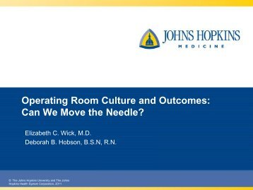 Operating Room Culture and Outcomes: Can We Move the Needle?