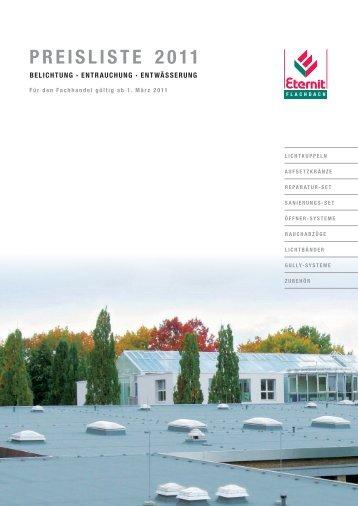 PREISLISTE 2011 - Eternit Flachdach GmbH