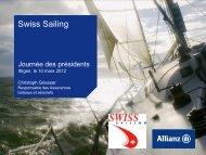 Le dépliant. - Swiss-Sailing
