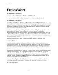 Freies Wort 15.08.2009 - Frischmann Kunststoffe GmbH
