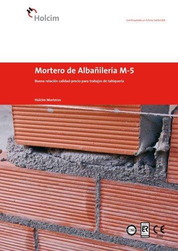 Mortero de Albañilería M-5 - Holcim