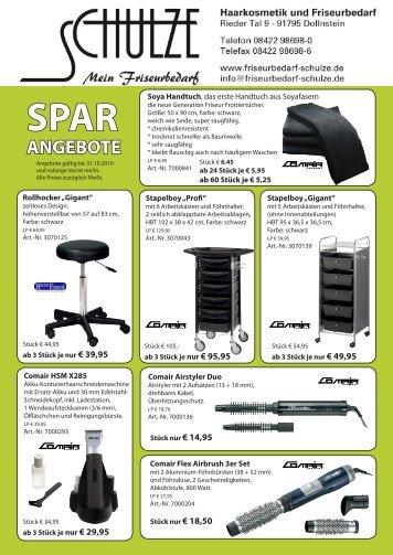 SPAR ANGEBOTE - Mein Friseurbedarf Schulze