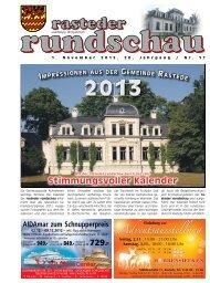 rasteder rundschau, Ausgabe November 2012