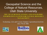 Field Experiences Remote Sensing GPS/GIS Applications in ...