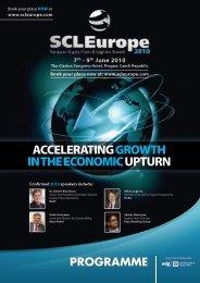 SCL 2010 Programme - European Supply Chain & Logistics Summit ...